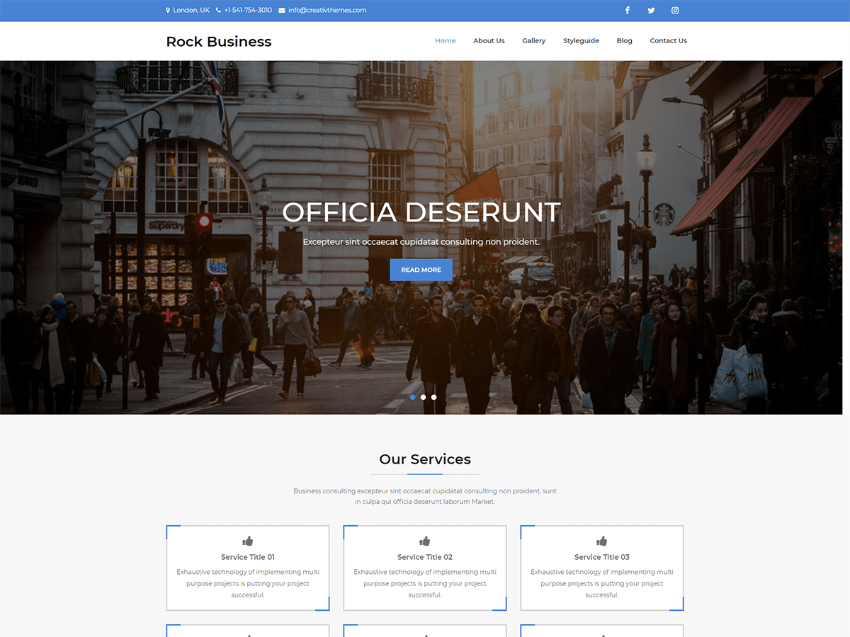 Rock Business Free – Creativ Themes